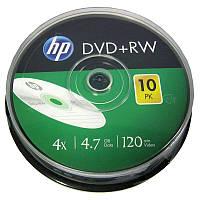 Диски  HP DVD+RW   4,7Gb/4x (cake 10)