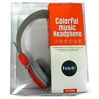 Наушники с микрофоном HAVIT  HV-H2198d ,grey/orange разьём 3,5jack (4pin)