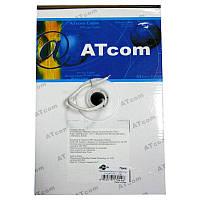 Кабель  для компьютерных  сетей AT-com UTP cat5e 2*2*0,5мм,алюминий-медь(за 1м)