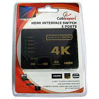 Переключатель HDMI сигнала Cablexpert DSW-HDMI-53 на 5портов HDMI 4К