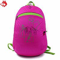 Ультралегкий складной рюкзак Jungle King 20L розовый, фото 1