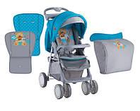 Детская прогулочная коляска Bertoni FOXY BLUE&GREY HELLO BEAR