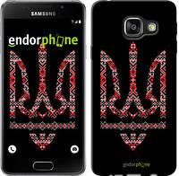 "Чехол на Samsung Galaxy A3 (2016) A310F Герб - вышиванка на черном фоне ""1196c-159-6129"""