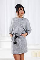ДС1549 Платье ангоровое с кружевом размеры 42-56