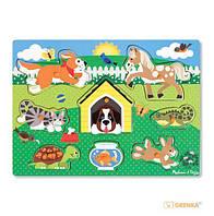 Рамка-вкладыш Melissa & Doug 'Домашние животные' 8 эл. (MD19053) (26932)