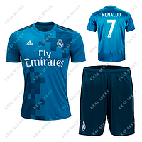 Детская футбольная форма ФК Реал Мадрид 2017-2018, Роналдо №7. Резервная форма