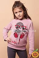 Джемпер теплый для девочки 3, 4, 5 лет (98, 104, 110 размер)