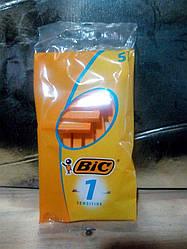 Станок одноразовый Bic 1 Sensitive, 5 шт в упаковке