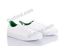 Кеды Бабочка-Mengfuna-AESD B06 white-green white-green