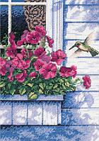 65037 Набор для вышивания крестом DIMENSIONS Цветы и колибри