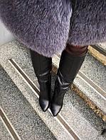 Сапоги на каблуке из натуральной кожи