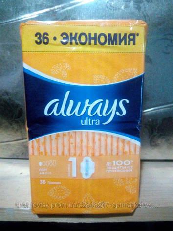 Гигиенические прокладки Always Ultra Light (Размер 1) 36 шт , фото 2