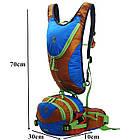 Рюкзак для гидратора  с сумкой на пояс зеленый, фото 3
