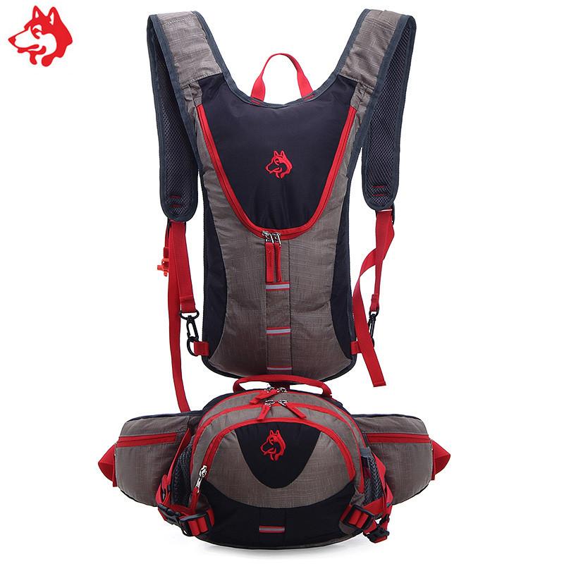 Рюкзак для гидратора  с сумкой на пояс черный