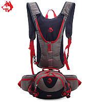 Рюкзак для гидратора  с сумкой на пояс черный, фото 1