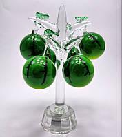 """Дерево """"Арбуз"""" хрусталь (6 плодов)(15,5х8,5х8,5 см)"""