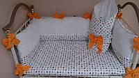 Защита в детскую кроватку + простыночка