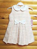 Теплое нарядное платье-сарафан для девочки (на рост 98, 110, 116, 122 см) Турция
