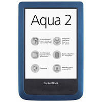 Электронная книга PocketBook 641 Aqua 2, Blue/Black (PB641-A-CIS)