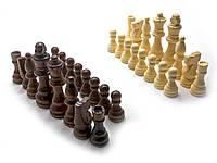 """Шахматные фигуры деревянные в блистере (h фигур 3,5-7,5 см ,d 1,8-2,2 см)(3"""")"""