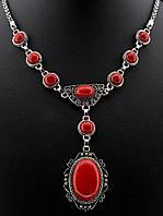 046349 Подвеска Коралл 56 см.   украшение с натуральным камнем
