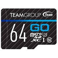 Карта памяти Team 64GB microSD Class 10 UHS-I/U3 Go (TGUSDX64GU302)