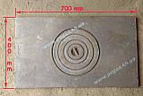 Плита чугунная (400х700мм) печи, грубу, мангал, барбекю, фото 4