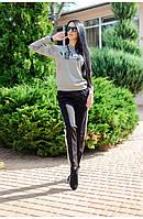 """Женский трикотажный костюм со штанами """"Vogue"""" (серый) Love KAN"""