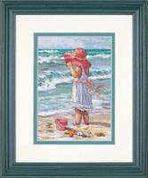 65078 Набор для вышивания крестом DIMENSIONS Девочка на берегу