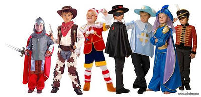 Детские костюмы. персонажи исторические и сказочные.