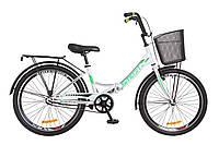 """Складной велосипед 24"""" Formula SMART с корзиной 2018 (бело-зеленый)"""