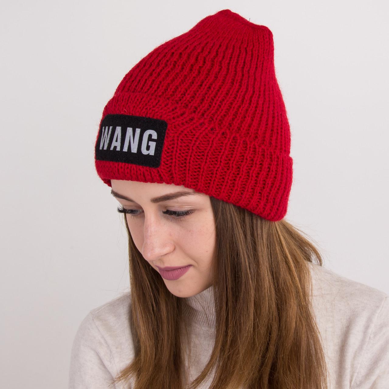 Вязанная зимняя женская шапка - WANG - Артикул 2160