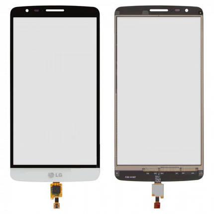 Сенсор (тачскрін) для LG D690 G3 Stylus/D693 білий Оригінал, фото 2