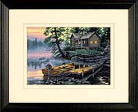 65091 Набор для вышивания крестом DIMENSIONS Утро на озере