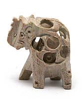 Слон резной каменный (4х3,5х2 см)
