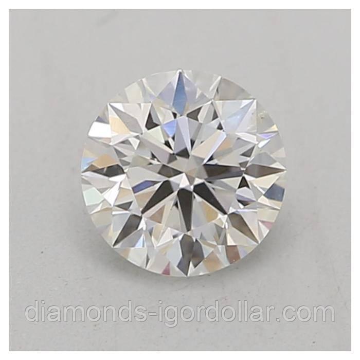 Бриллиант натуральный природный идеально белый чистый купить в Украине 4,6 мм 0,4 карат