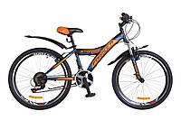 """Горный подростковый велосипед 24"""" Formula STORMY 2018 (черно-оранжевый)"""