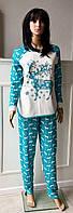 Зимняя теплая женская пижама