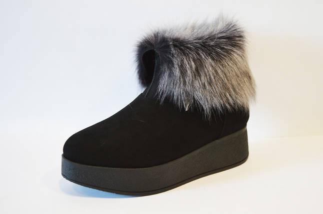 Замшевые зимние ботинки на платформе Tucino, фото 2