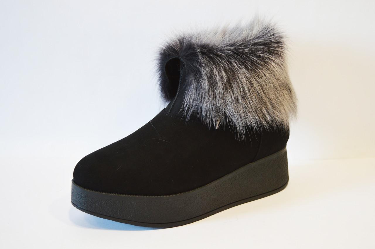Замшевые зимние ботинки на платформе Tucino