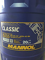 Масло моторное Mannol CLASSIC 20L SAE 10W-40 API SN/CF полу-синтетика