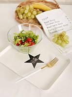 Маленький пластиковый поднос Завтрак в Париже белый 30х22