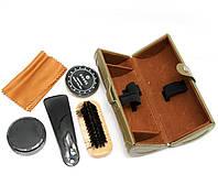 Дорожный набор для ухода за обувью коричневый (16,5х7х7 см)
