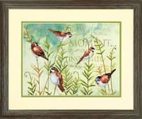 70-03248 Набор для вышивания крестом DIMENSIONS Птицы на папоротнике