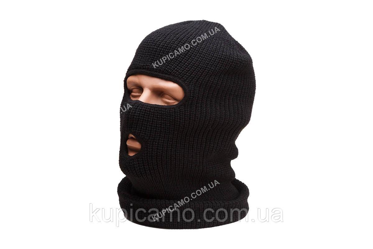 "Шапка-маска балаклава ""REIS"" Польша   двойная вязка черный"