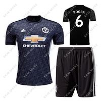 Детская футбольная форма ФК Манчестер Юнайтед 2017-2018, Погба №6. Гостевая форма
