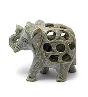 Слон резной каменный (6х7х3 см)