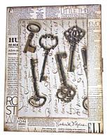 """Ключница """"Ключи"""", массив дерева (25,5х19,5х5,5 см.)"""