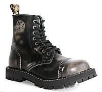 01-15 Черные средние ботинки Steel на 8 дырок 113-114/O/WHITE/BLACK