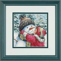 70-08833 Набор для вышивания крестом DIMENSIONS Поцелуй для снеговика